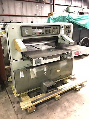 Printing Press 1986 Polar 92EMC  Paper Cutter with air on bed