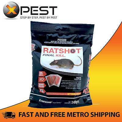 Ratshot Final Kill 240gm Paste Bait Rodenticide *One Feed Kills*