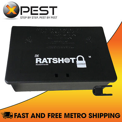 Ratshot Locked MEDIUM Lockable Rat and Mouse Bait Station *Tamper Resistant*