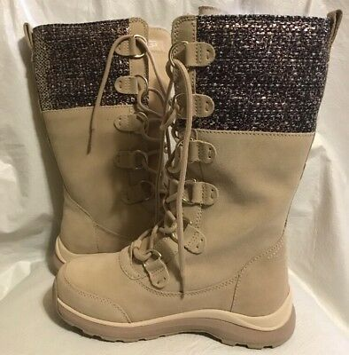 9070bf4933 NEW UGG Atlason Cream W Frill Waterproof Leather Toscana Wmns Winter Boots  5.5