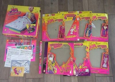 1980s Hasbro Jem & Holograms LOT---8 Empty Boxes, Directions, Stickers, Poster
