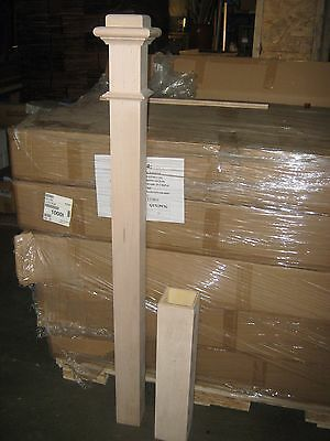 LJ SMITH MAPLE STAIRCASE 4 1/2 X 55 NEWEL POST # 4176 - SOLID W/SLEEVE - NEWnBOX