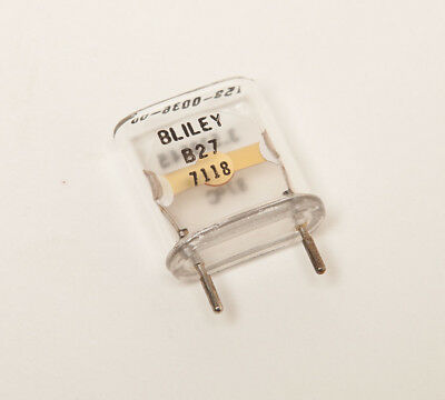 Vintage BLILEY B27 3.5 MHz Quartz Resonator - Glass Envelope - NOS