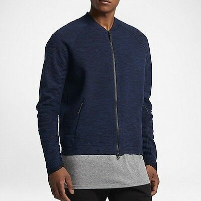 b5e3735c31b71 Nike Sportswear Tech Knit Jacket Binary Blue Black Men s Size XL 832178 429  New