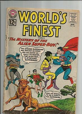 World's Finest #124 Gd+  Good+  Ow/white Pages Silver Age Dc Comics 1962