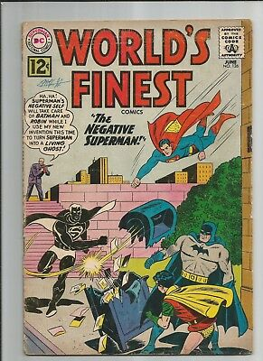 World's Finest #126 Vg-  Very Good-  Ow/white Pages Silver Age Dc Comics 1962
