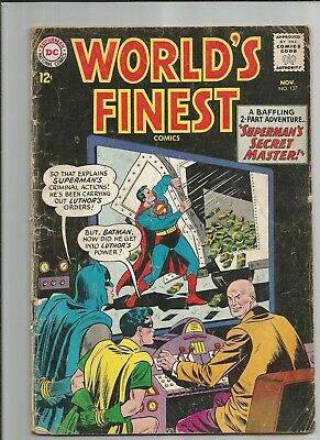 World's Finest #137 Gd/vg    Ow/white Pages Silver Age Dc Comics 1963