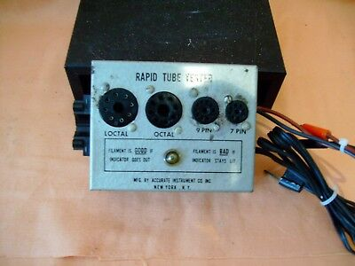 Vintage Accurate Instrument Co. Inc. Rapid Tube Tester