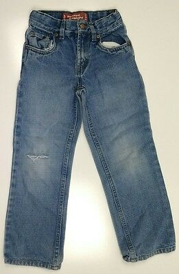 Levi's 519 Women's distressed relaxed straight slim jeans size 7