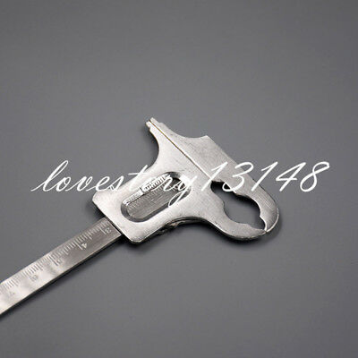 Dental Stainless Steel Lab Dental Gauge Vernier Caliper Measure Tool Ruler
