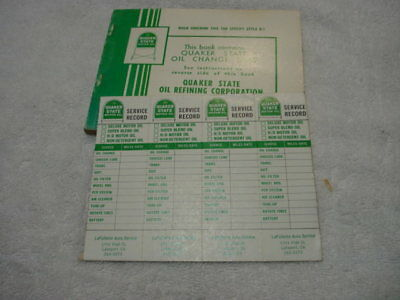 (4) Quaker State Lube Oil Change Stickers from the 1960s or 1970s