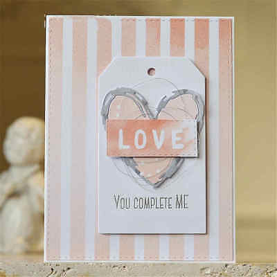 Love Heart Shapes Cutting Dies Scrapbooking Card For Invitation Album Book   O