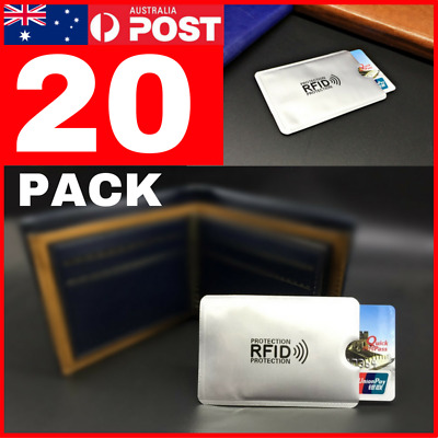 20 PACK RFID Secure Credit Card Blocking Sleeves Protector Skim Scan Blocker