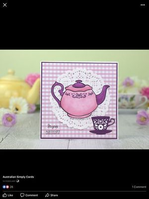 Cup Cutting Dies Teapot Clear Stamp For DIY Scrapbooking Album Paper Card Craft