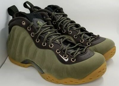 best loved 562ee abacb Nike Air Foamposite One PRM Medium Olive Light Brown Suede 575420 200 Size 8
