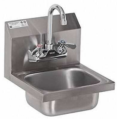ACE Ultra Space Saver Wall Mount Stainless Steel Hand Sink with No Lead Fauce...
