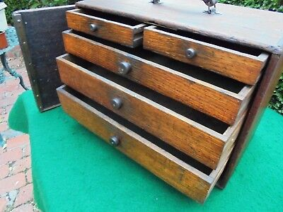 Antique Australian Huon Pine Chest Of 5 Drawers Engineers Or Tool Makers Box