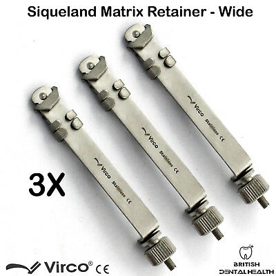 3X Matrix Retainers Squiveland Large Wide Dental Orthodontic Siqueland Ortho CE