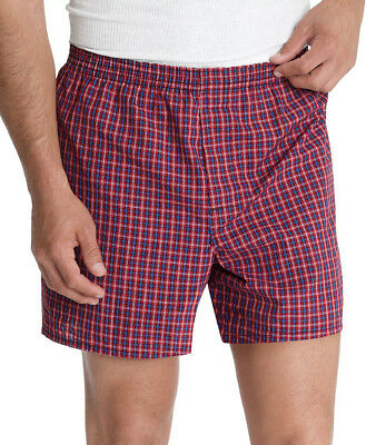 Hanes Ultimate Men's FreshIQ Tartan Boxers 5-Pack, 745BP5, S-XL