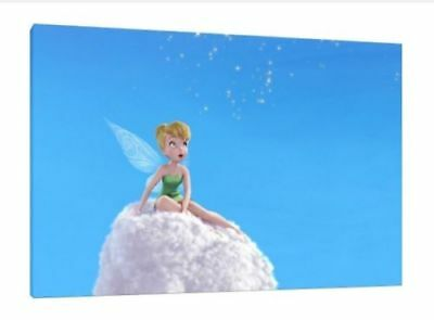 Tinkerbell - 34X24 Inch Large Canvas - Very Rare Peter Pan Art Work Tinker Bell