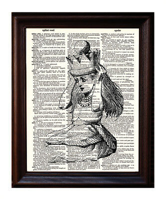 Alice Crown - Dictionary Art Print Printed On Authentic Vintage Dictionary Book