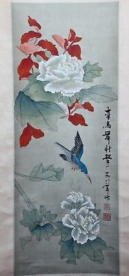 Original Chinese Scroll Painting Chinese Painting China Hand Painted Feng Shui