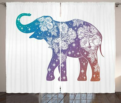 Modern Tattoo Curtains 2 Panel Set for Decor 5 Sizes Available Window Drapes