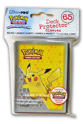 Pokemon Pikachu Deck Protector Sleeves - Pack of 65 Grey Design - Ultra-Pro