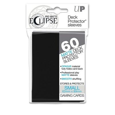 Ultra PRO - Small Sleeves - PRO-Matte Eclipse - Black (60 Sleeves) - Yu-Gi-Oh!