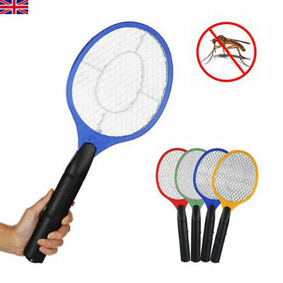 Electronic Bug Zapper Racket Mosquito Fly Swatter Insects Pest Electric Bat UK