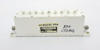 Credowan Band-Pass Filter CX250/25-258, 250 MHz