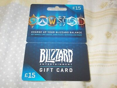 Blizzard Entertainment Plastic Empty Gift Card/voucher