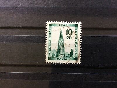Stamps BADEN GERMANY French Zone 1949. MiNr39A Used Fine