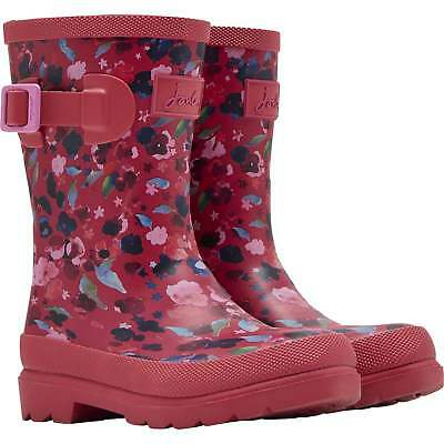 Joules Junior Girls Wellies - Pink Ditsy  - UK 10 Left - RRP £24.95 Now £14.95
