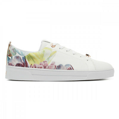 44f47c0f192a Ted Baker Womens Tranquility White Black Ahfira 2 Trainers UK Sizes  3-8