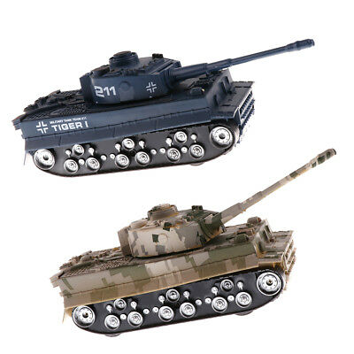 2pc WWII Camo German Tiger Tank 1:32 Scale for 54mm Army Men Soldier Figures