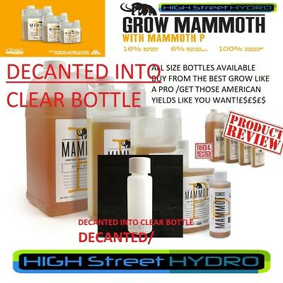 Mammoth P Organic Microbial 30ML/60ml/100ml//1L/Hydroponic DECANTED IN CLEAR
