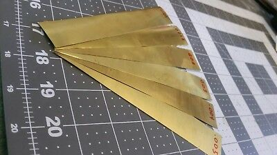 "brass Shim Stock assortment 0.001 0.0015 0.002 0.003 0.004 0.005 1""x6"" 6 pieces"