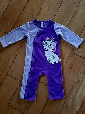 Baby infant Girl 18 Months DISNEY STORE Fleece Pajamas Play ARISTOCATS MARIE