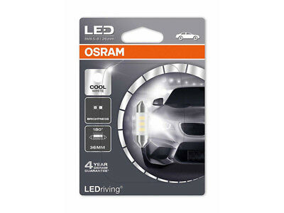 C5W Led Lamp By Osram, 36Mm.,6436Cw-01B 6000K, 12V, 0.5W, Sv8.5-8, 1 Piece
