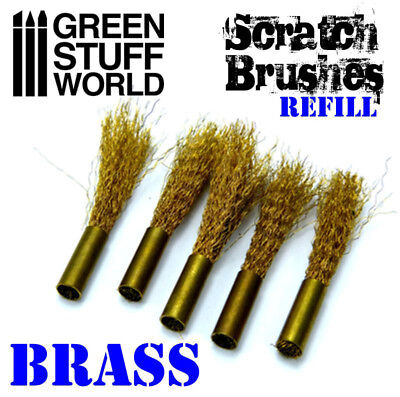 Scratch Brush Refill Brass - Rolling pin cleaning chipping weathering 40K
