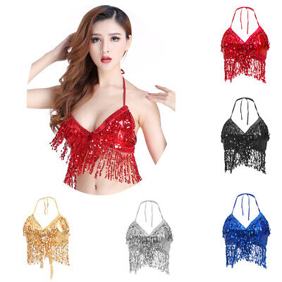 One Size Belly Dance Costume Bra Indian Dancer Top Bellydance Performance Outfit