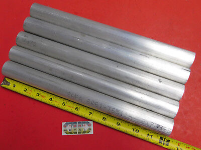 """5 Pieces 1-1/4"""" ALUMINUM 6061 ROUND ROD 12"""" LONG Solid T6511 Lathe Bar Stock"""
