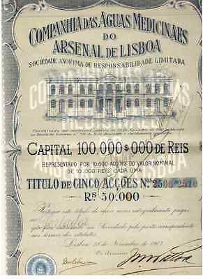 Aguas Medicinaes do Arsenal de Lisboa  1907 Lissabon DEKO
