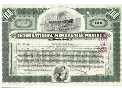IMM International Mercantil Marine 1921 Titanic White Star Line