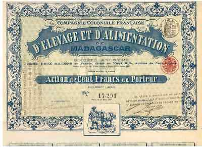 Lot: 3  Alimentation De Madagascar Paris 1897  Deko