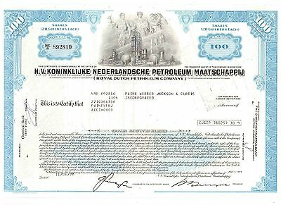 Lot: 3 Royal Dutch Petroleum Company 1978