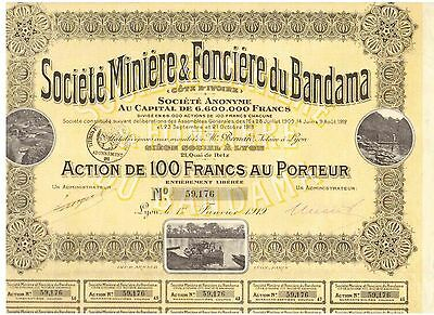 Lot: 3 Miniere & Fonciere du Bandama  1919  Lyon