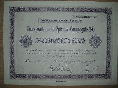 Internationale Spiritus Compagnie AG  Wien 1922
