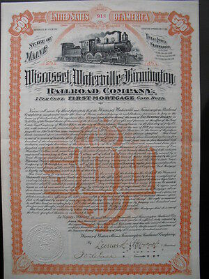 Wiscasset Waterville & Farmington Railroad 1901    Selten